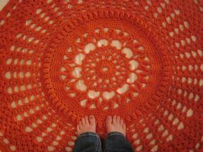 Chunky Orange Rug [crochet]