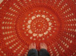 Chunky Orange Rug[crochet]