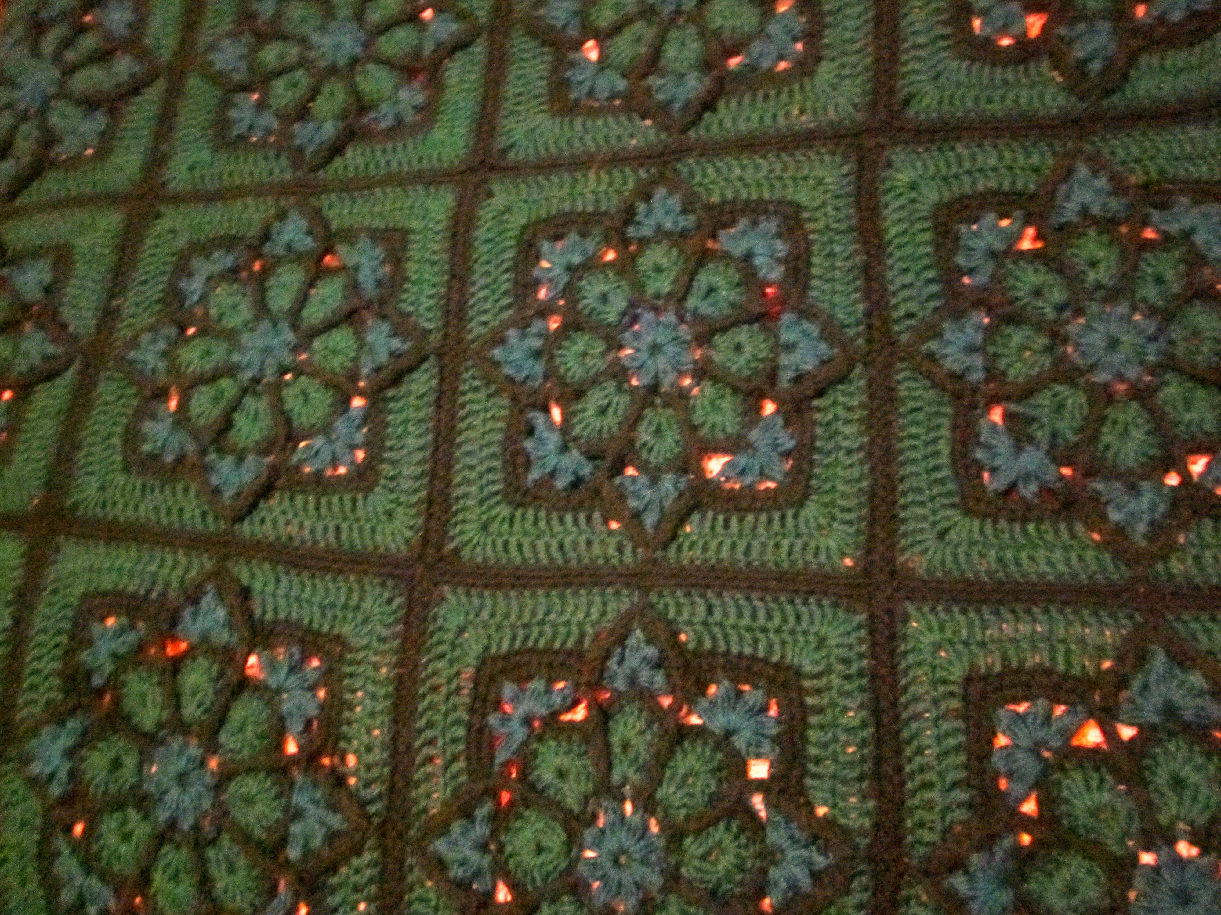 Peacock Stained Glass Afghan A Simple Stitch